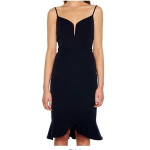 New nwot Bardot Kristin peplum dress black 8 sexy